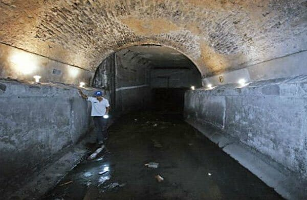 One of the newly-found tunnels in Puebla.