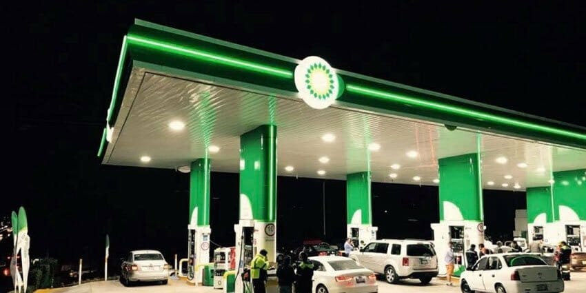 BP has opened its first gas station in Mexico.