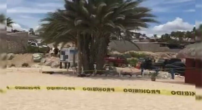 Site of yesterday's shooting in Los Cabos.