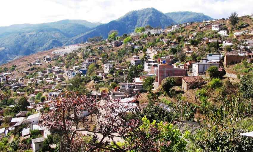 The Cajonos district of Oaxaca, where a land dispute killed two people.