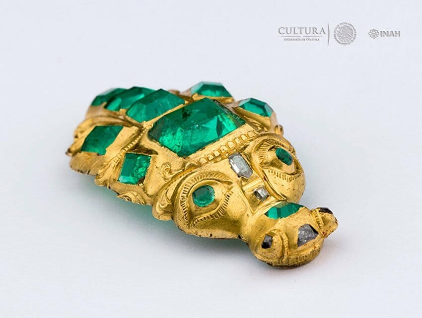 One of the pieces of jewelry found on the sea floor off the Yucatán peninsula.