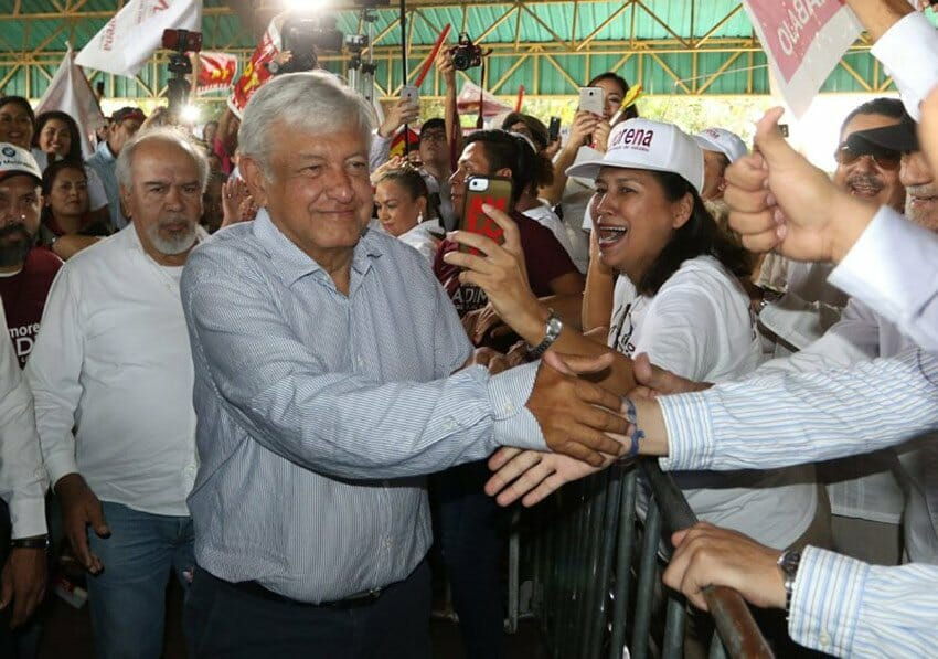 AMLO on the campaign trail.