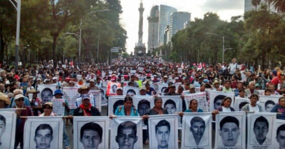 Massive protests followed the 2014 disappearance of the 43 students.