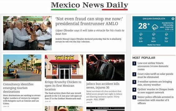 mexico news daily front page