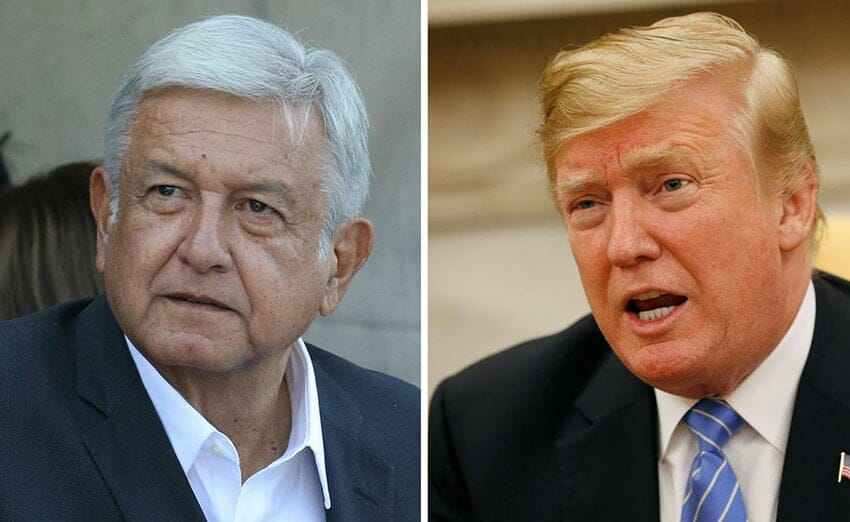 AMLO and Trump spoke for half an hour yesterday.