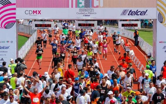 Marathon runners Sunday in Mexico City. Some cheated.