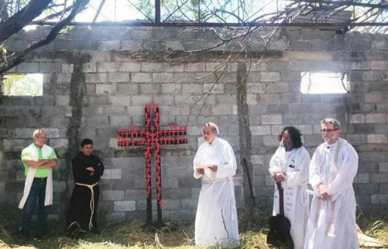 Yesterday's ceremony at the site of the Tamaulipas massacre.