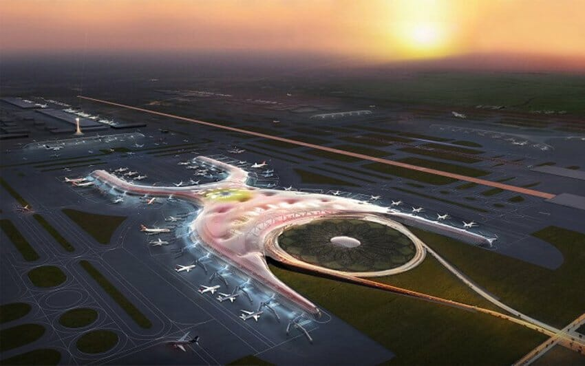 This is how the new airport would have looked.