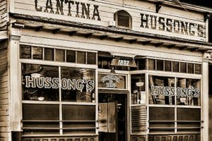 The famous Baja bar called Hussong's.