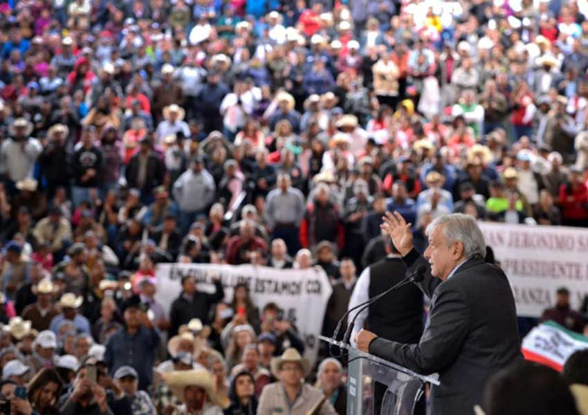 The president yesterday in Zacatecas.