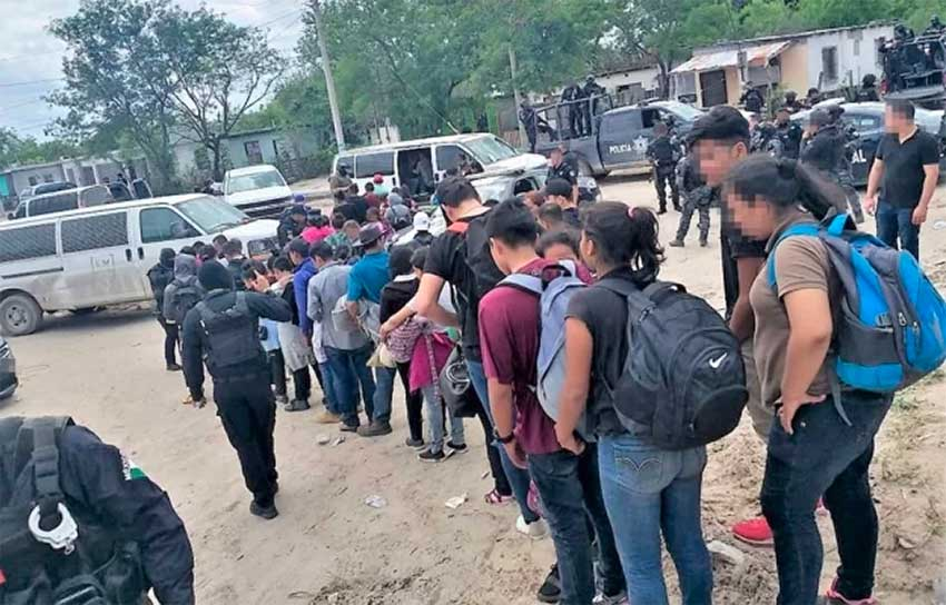 Armed civilians fired on security forces when they detained migrants Saturday in Tamaulipas.