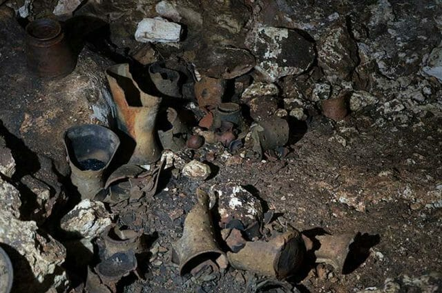 Hundreds of artifacts have been found in the cave.