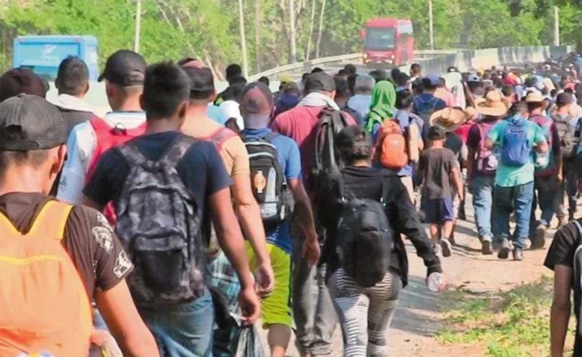 The latest caravan marches north.