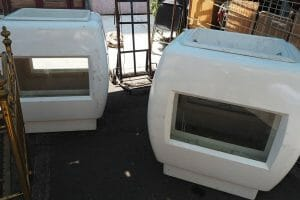 No one knew how to use these giant ice chests that were for sale at the Portales Antiques Market.