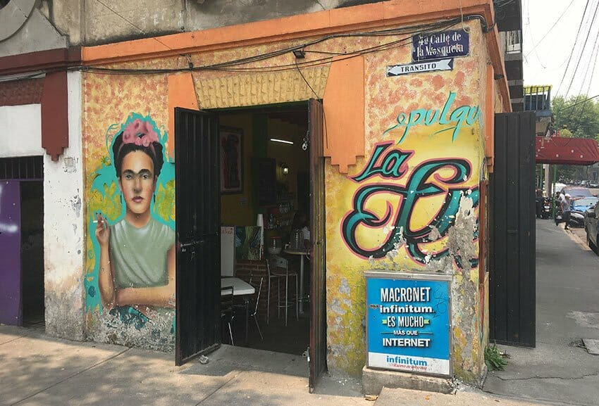 You'll find pulque by the liter at La Frida, one of the attractions at the Martínez de la Torre market.