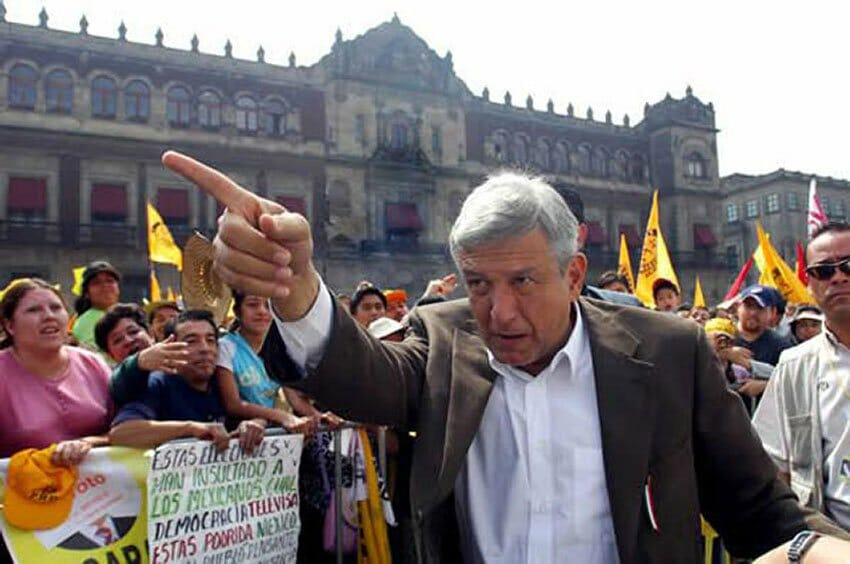 AMLO after losing the 2006 election.