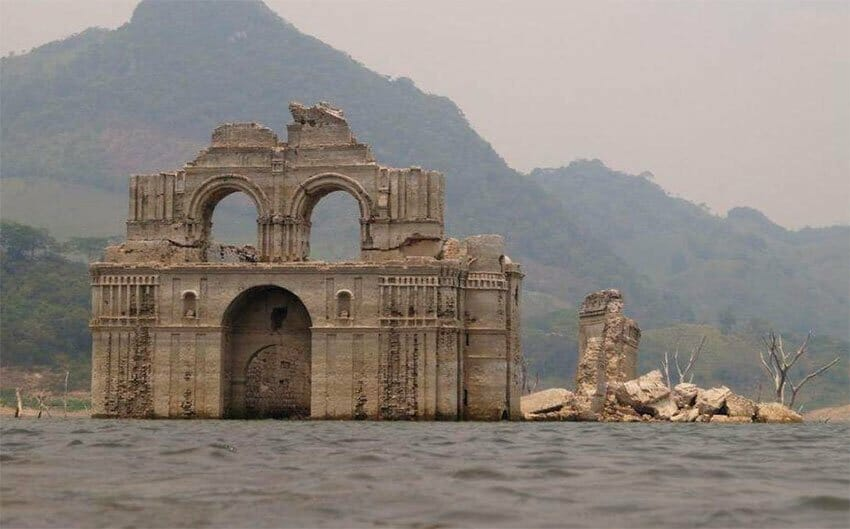 Submerged church appears once again in Chiapas.