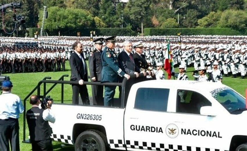 President López Obrador officially launched the National Guard in Mexico City Sunday.