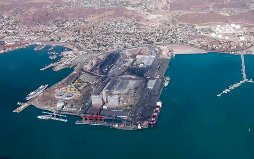 Port of Guaymas, where an acid spill occurred last week.