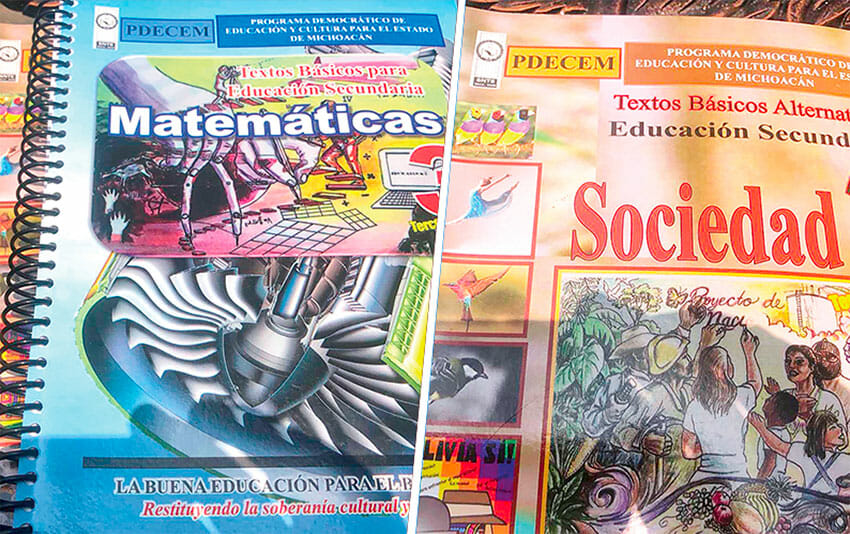 The teachers' union's textbooks will be used by students in Michoacán and Oaxaca.