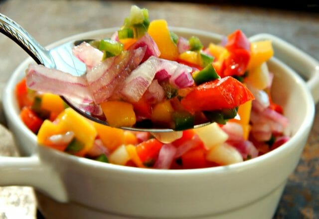 Try a papaya salsa for something a little different.