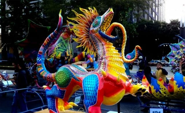 One of the entries in the alebrijes parade.
