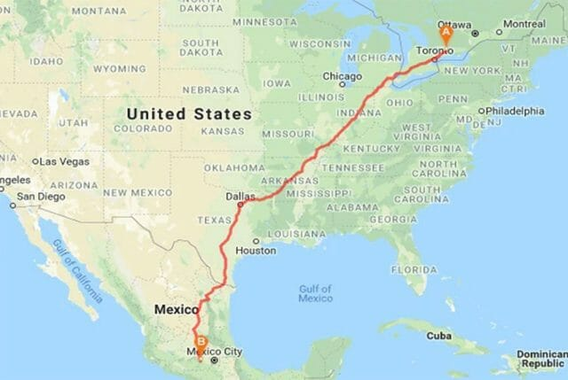Following the butterflies: route of the Monarch Ultra.