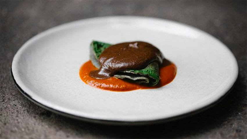 A mole dish by Pujol restaurant in Mexico City.