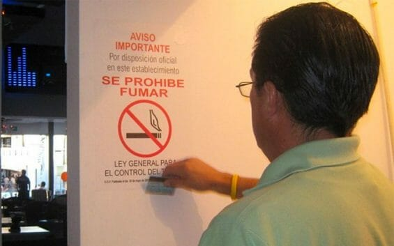 More non-smoking signs will probably be going up in Aguascalientes.