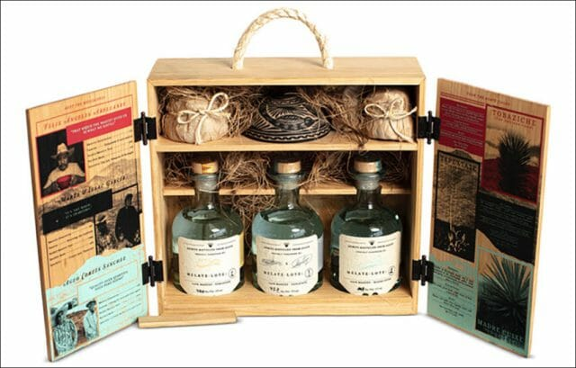 Melate's Signature Box, a special selection of mezcal from Oaxaca.