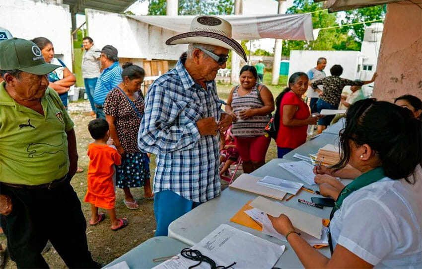 A polling booth during Sunday's vote on the train project.
