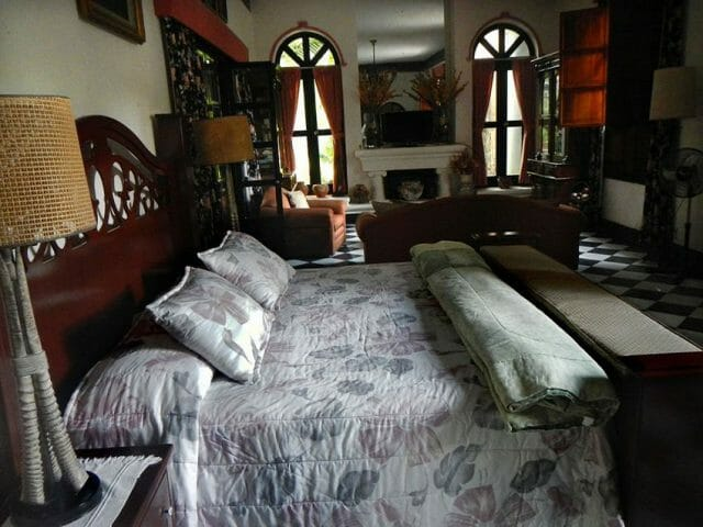Room at the Villa QQ in Chapala where Lawrence stayed in 1923.