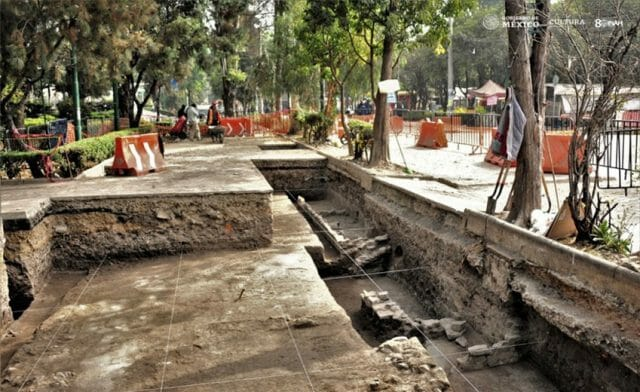 The discovery is located in the historic center of Azcapotzalco.