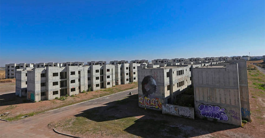 The Lomas del Mirador housing project was abandoned 10 years ago.