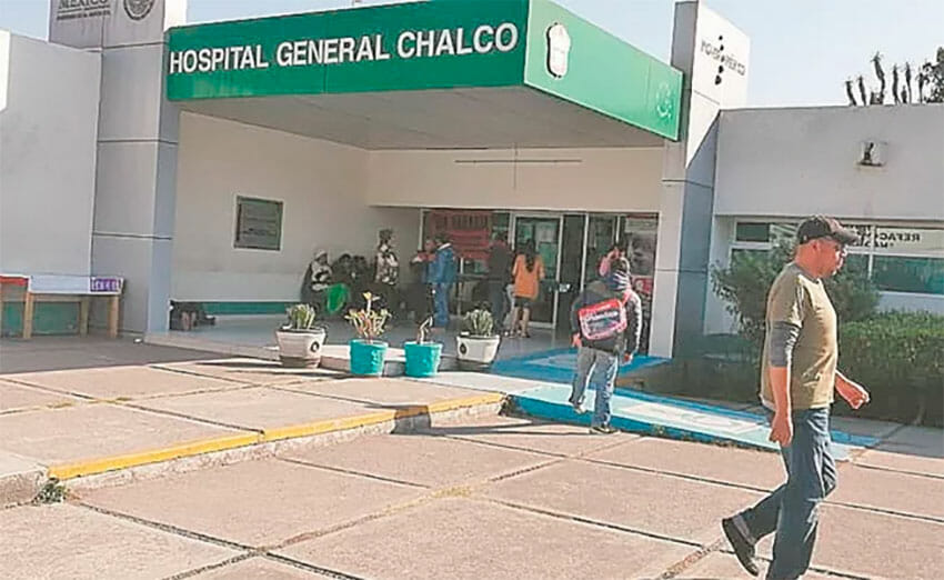 The hospital in Chalco was one of those where patients have been charged for medicine.