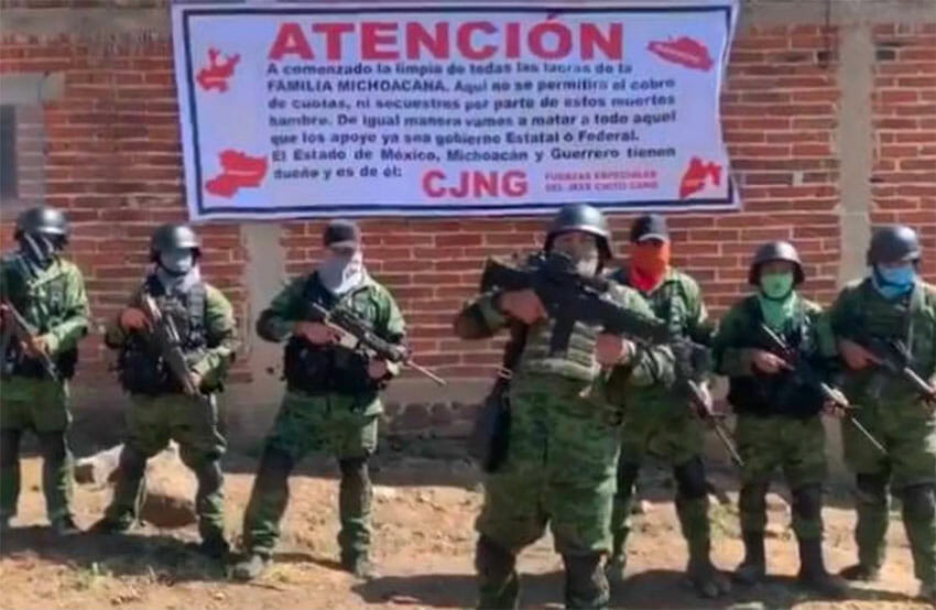 The CJNG announces its intentions to eliminate rivals in México state.
