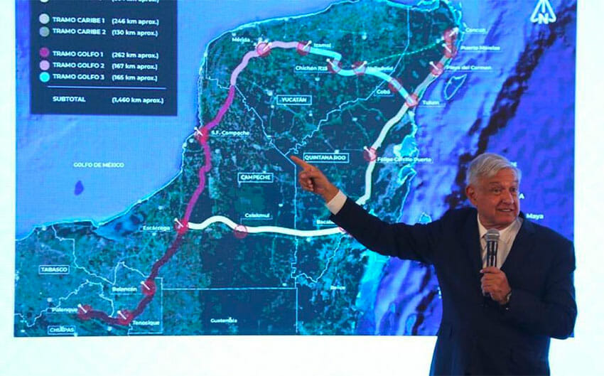 The Maya Train is President López Obrador's signature infrastructure project.