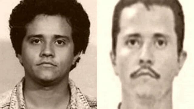At left, an earlier photo of El Mencho and a more recent one.