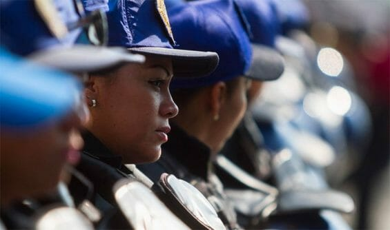 Female police are also targets of sexual harassment.