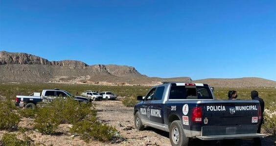One of the crime scenes in Chihuahua on Monday.