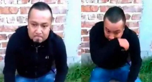 An emotional El Marro in one of two videos released after his mother's arrest.