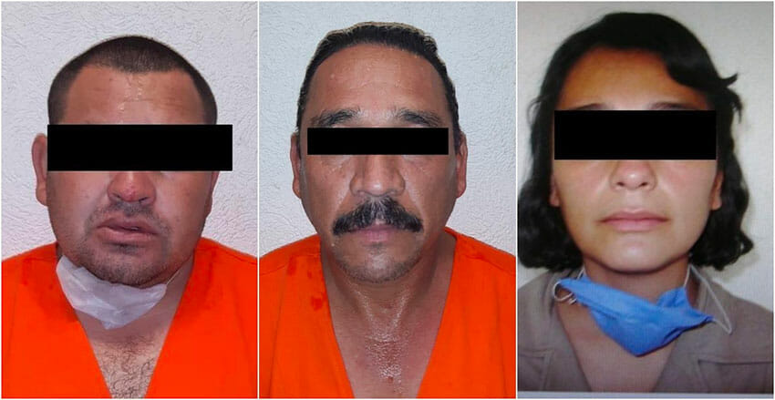 The three suspects arrested in the death of Giovanni López.