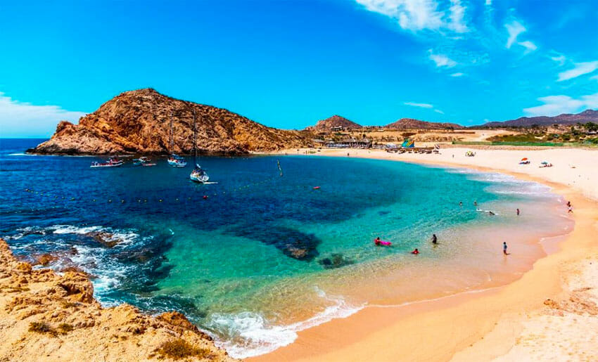 The only beaches open in Baja California Sur are in Los Cabos.