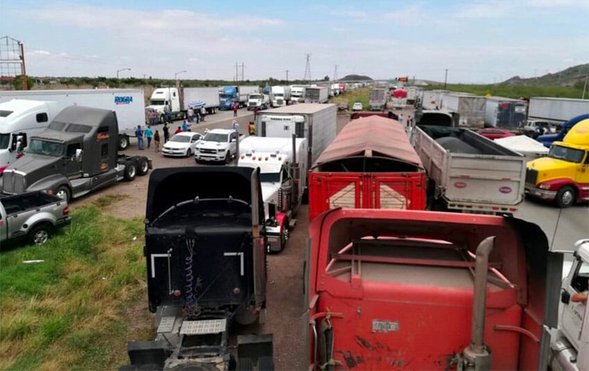 The Yaquis blocked Highway 15 as part of their protest this week.