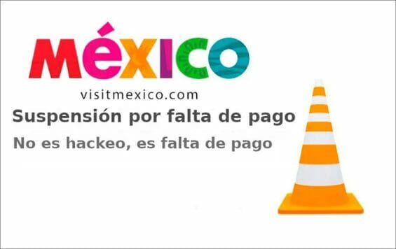 The Visit Mexico site on Saturday.