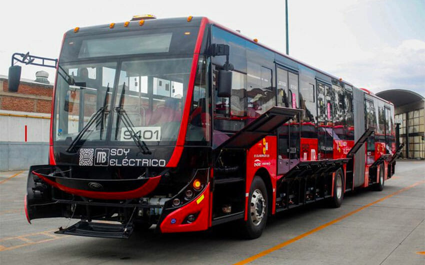 One of Mexico City's brand new electric buses.
