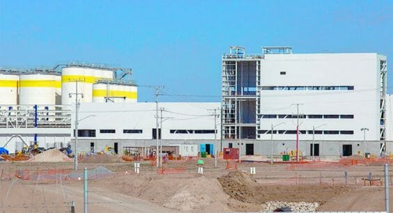 The partially finished brewery in Mexicali.