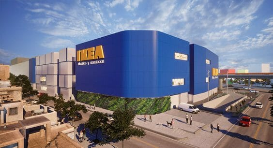 An architectural rendering of the new Ikea store.