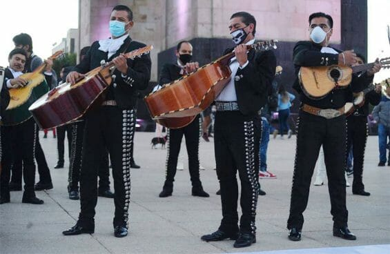 Mariachis give a concert in Mexico City