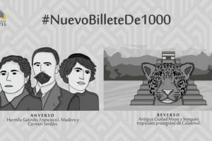 When this new 1,000-peso bill is issued later this year, it will be one of only two Mexican bills in circulation to feature women.